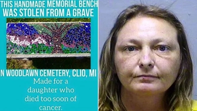 Robbing the dead? Woman, 44, jailed for stealing CEMETERY mementos to decorate her home (photos)