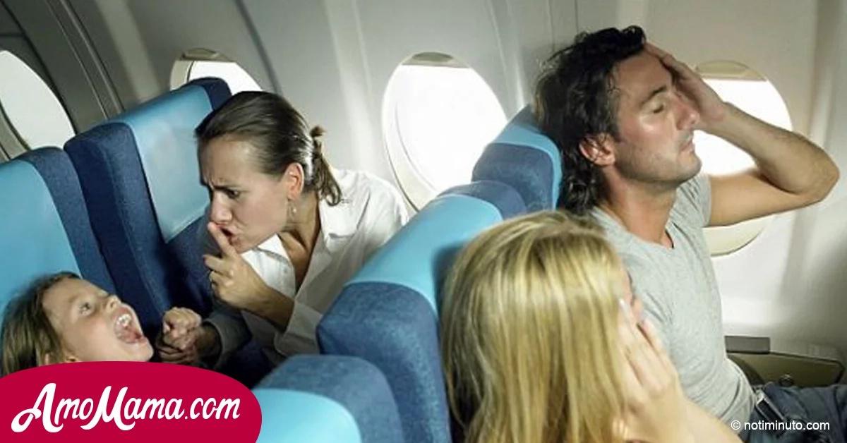 Una madre subió a un avión con su hijo enfermo y la reacción de uno de los pasajeros indignó a todos. La respuesta del piloto es de admirar