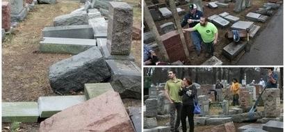 Respect! Muslims raise $55.000 to rebuild 154 gravestones vandalized at Jewish cemetery (photos)