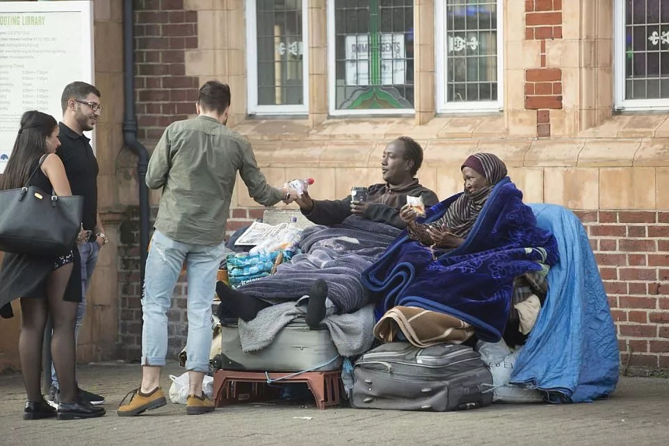 They survive on food donations. Photo: Daily Mail