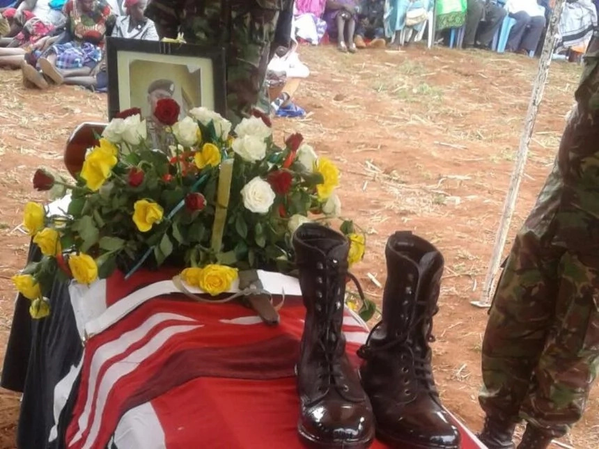 KDF soldier buried