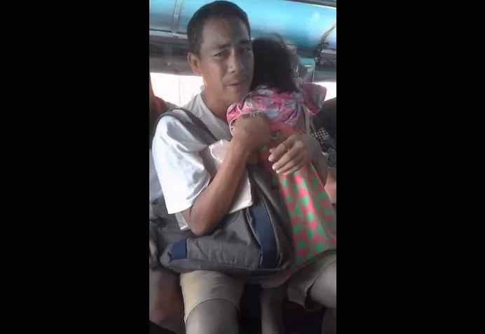 Heartbreaking: Father ached to see his daughter crying in pain.