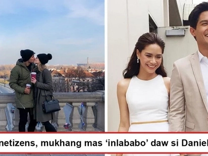Mas 'inlababo' daw siya ngayon? Netizens notice how Daniel Matsunaga looks giddily happy with Karolina Pisarek than 'past relationships'