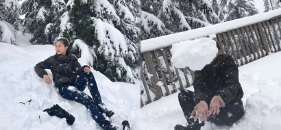 Ayaw paawat! Kim Chiu enjoys the snow like a first-timer kid in Vancouver