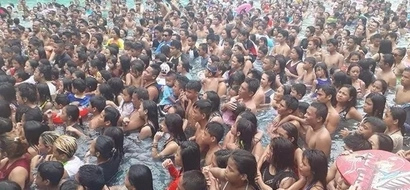 Mangangati ka nalang! Estimated 5,000 guests crowded pool in a resort in Pasig during holy week