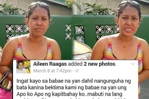 Concerned lola warns netizens of this woman who took her apo and their neighbor's too