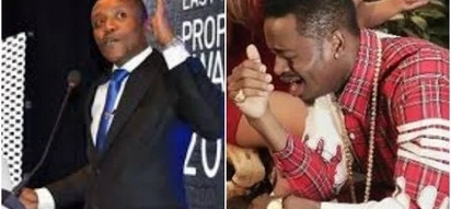 """Maina Kageni rescues singer Diamond after his """"poor"""" English left him in a deep hole"""