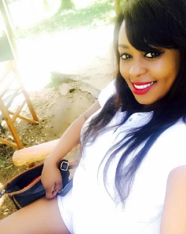 Lilian Muli in a tiny short