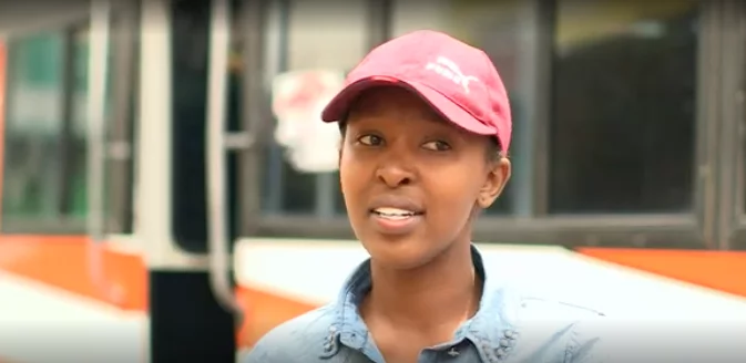 Tsarah says she's the only woman matatu designer in Kenya. Photo: BBC