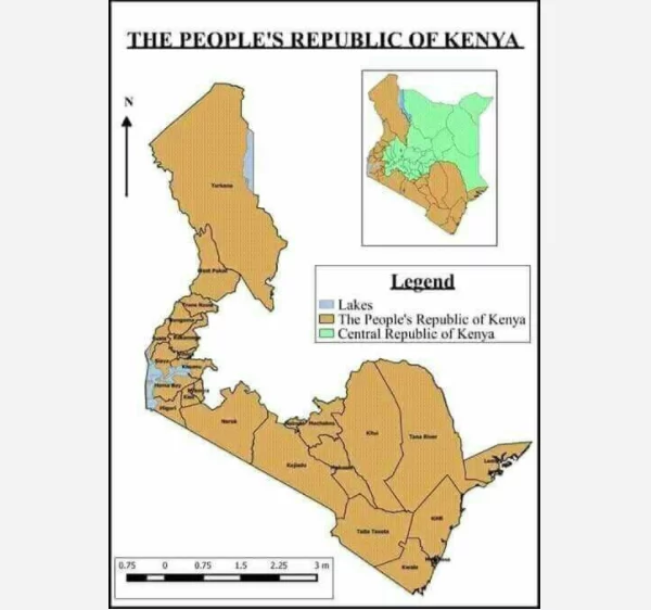 Map Showing The Muchtalked About Peoples Republic Of Kenya Being - Peoples republic map