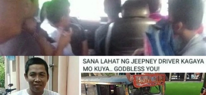Kind-hearted jeepney driver gives allowance, free rides to poor students on the street