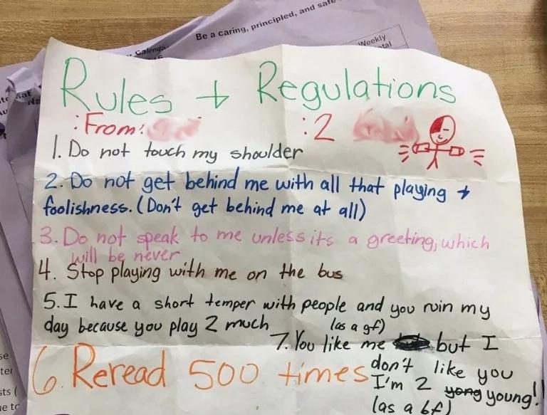 Magnífica carta de una niña enseña cómo debes rechazar a los hombres molestos