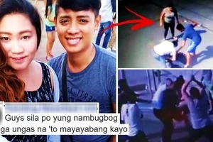 These local residents were caught on camera beating up 2 helpless security guards at a subdivision in Cavite! The reason will shock you!
