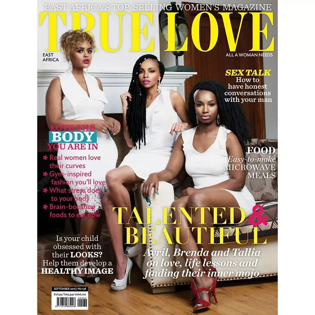 Three hot ladies take over True Love Magazine's cover