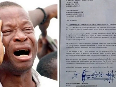 A 'deadly' application letter by a Luo 'engineer' leaves Kenyans stunned