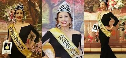 Gorgeous Pinay mamita wins Mrs. Grandma Universe 2017