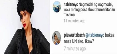 Aray ko po! Savage Pia bashes netizen who criticized her IG post