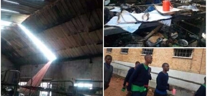 Schoolgirls burn dormitory in protest after being locked inside to prevent them from meeting boys