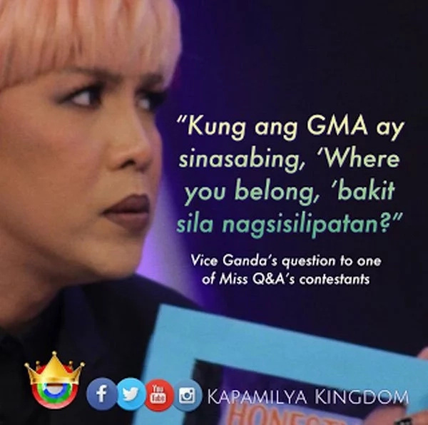Vice Ganda asks controversial question to contestant about GMA