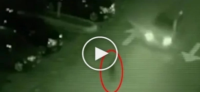 A ghost appeared in front of the moving car in Quezon