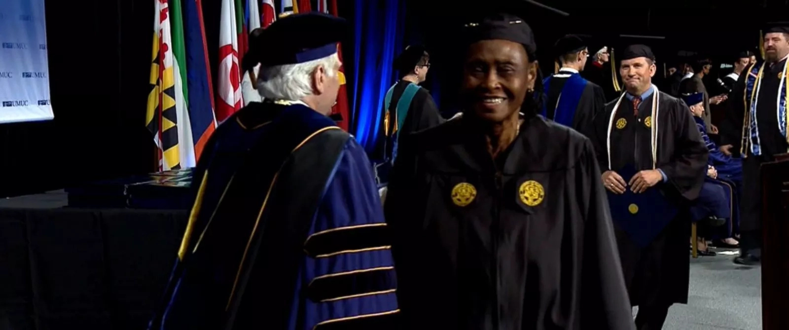 79-year-old Lucy Capers about to receive her Bachelor of Science degree
