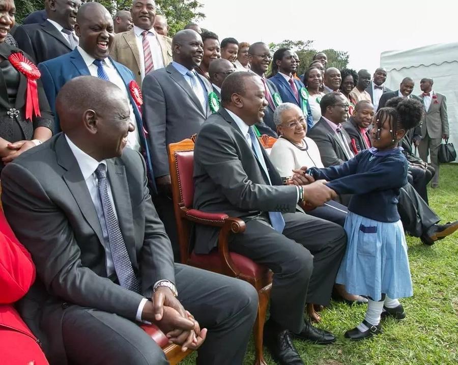 Uhuru launched KSh 4milion comprehensive NHIF cover for students in public secondary schools. Photo: Uhuru Kenyatta/ Facebook