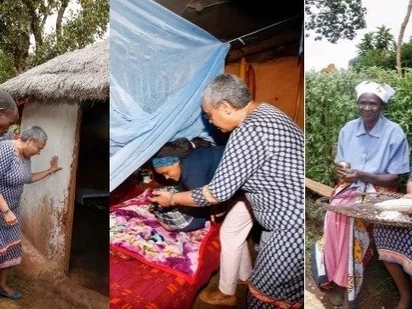 Margaret Kenyatta comes face to face with poverty,ordinary life as she enters grass-thatched house (photos)
