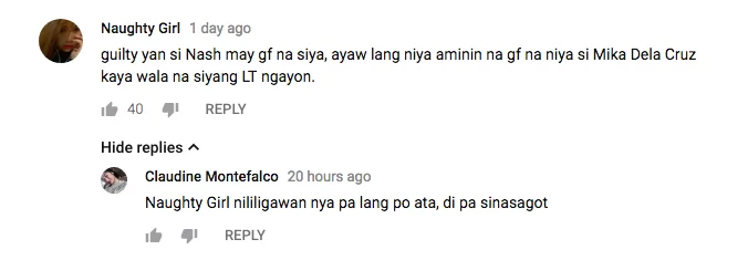 Si Mika Dela Cruz nga ba? Nash Aguas admits courting a former Kapamilya artist
