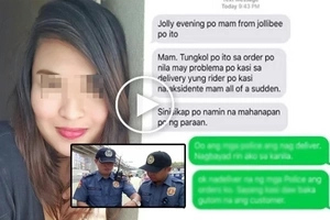 Viral: Davao City Police Delivers Jollibee Meal?