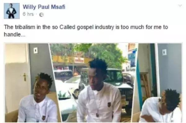 Willy Paul kuasi nyimbo za injili?