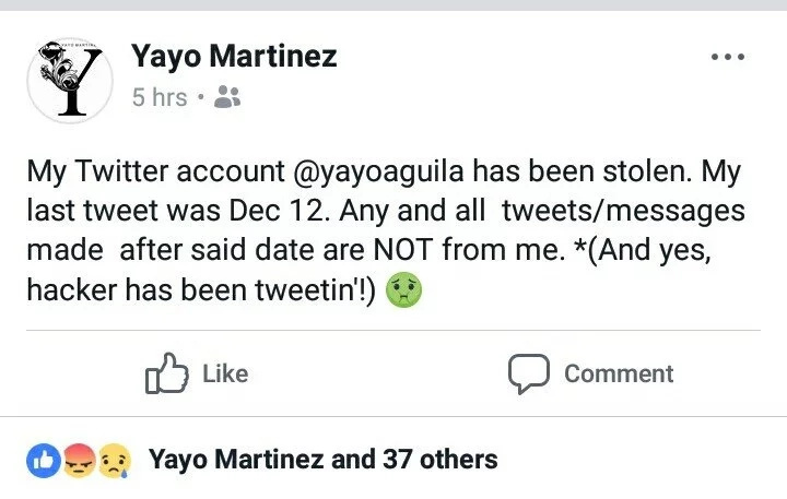 Ginamit ang account niya! Yayo Aguila warns followers of hacked Twitter account