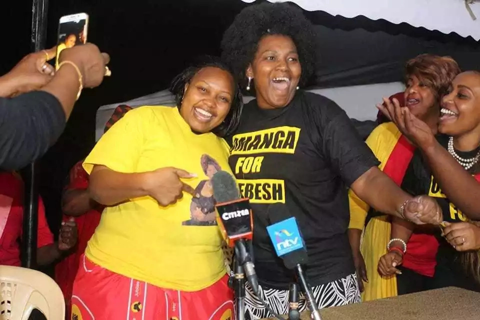 Millicent Omanga and Rachael Shebesh make up after a rough past, the former pledges support to the latter