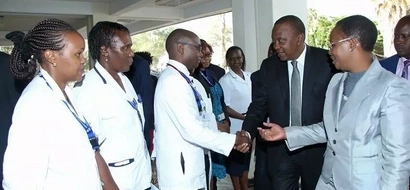 IN PHOTOS: Uhuru Visits Victims Of Mandera Attack