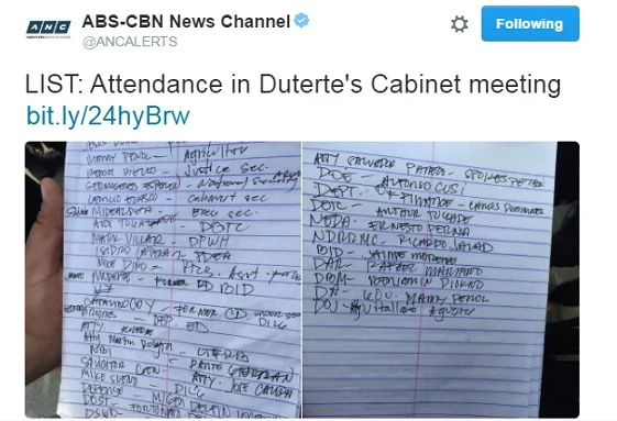 Duterte's new cabinet members announced