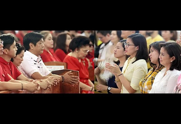 Marcos, Robredo pray for VP post