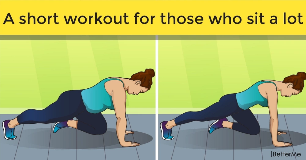A short workout for those who sit a lot