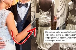 Mahal na, pangit pa! Teen's excruciating prom dress fail leaves her devastated - and her mum furious