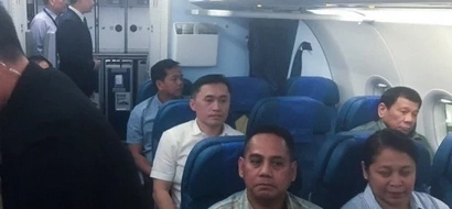 People's man Duterte humbly takes commercial flight to Manila