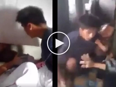 Brutal na asawa! Violent Pinoy caught on camera abusing his helpless wife and child