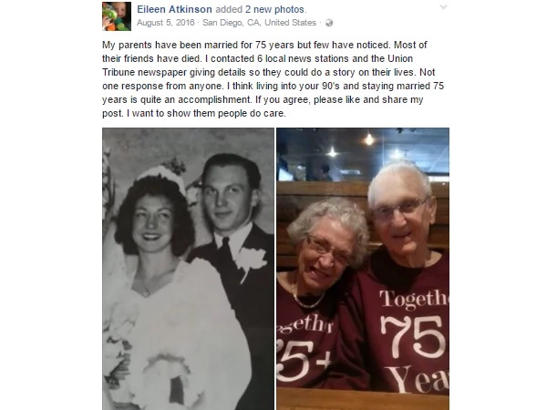 A couple celebrates their wedding anniversary and it goes viral! Why?