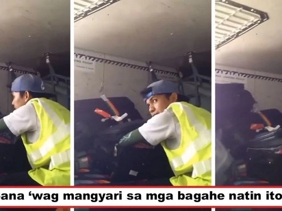 Nakakagalit ang ginawa ni kuya! Airport porter caught on video opening passengers' luggage, footage goes viral