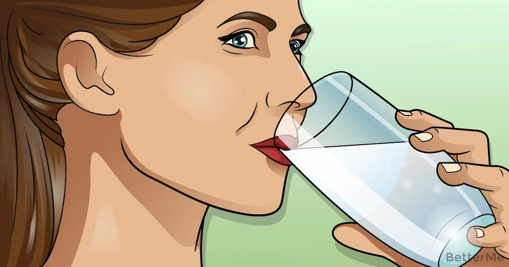That's why you should drink water during meals