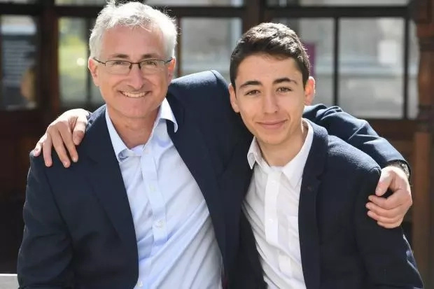 Ben Wald with his dad David Wald, who is a cardiologist