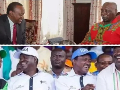 After retired President Daniel Moi made his mind between Jubilee and NASA, Kenyans have this to say