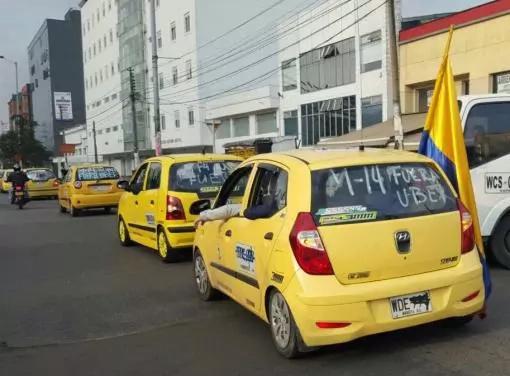 Paro nacional de taxistas en contra de Uber
