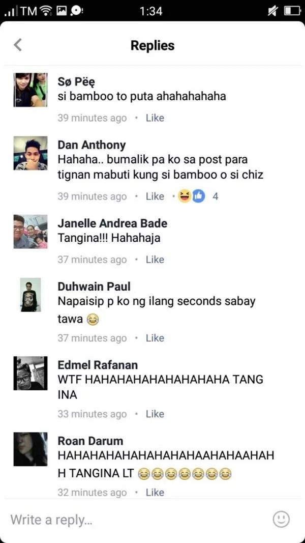Netizen's Most 'EPIC FAIL' Comment! Fired back at Bamboo whom she thought was Chiz and criticized him for his answer!