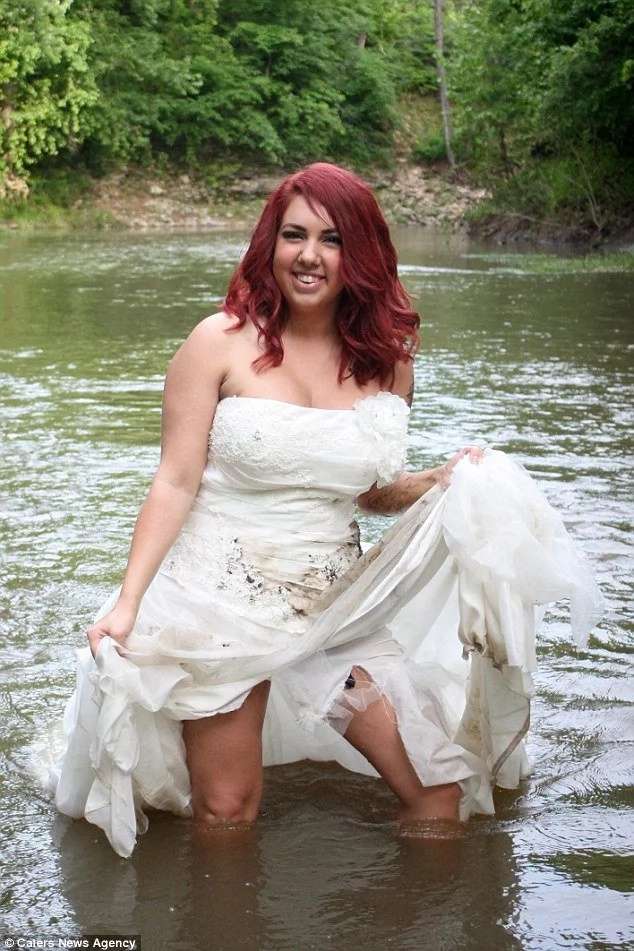 After 10 years together! Woman, 25, burns her WEDDING dress to celebrate divorce (see hot photos)