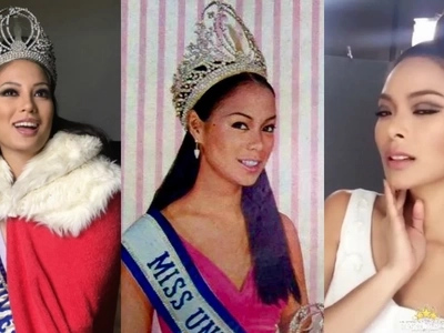 Miss Universe PH Maxine Medina dresses up as former beauty queen Gloria Diaz