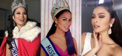 Miss Universe PH Maxine Medina dresses up as former beauty queen Gloria Diaz