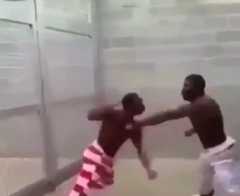 Shocking footage of a barbaric game played by prisoners